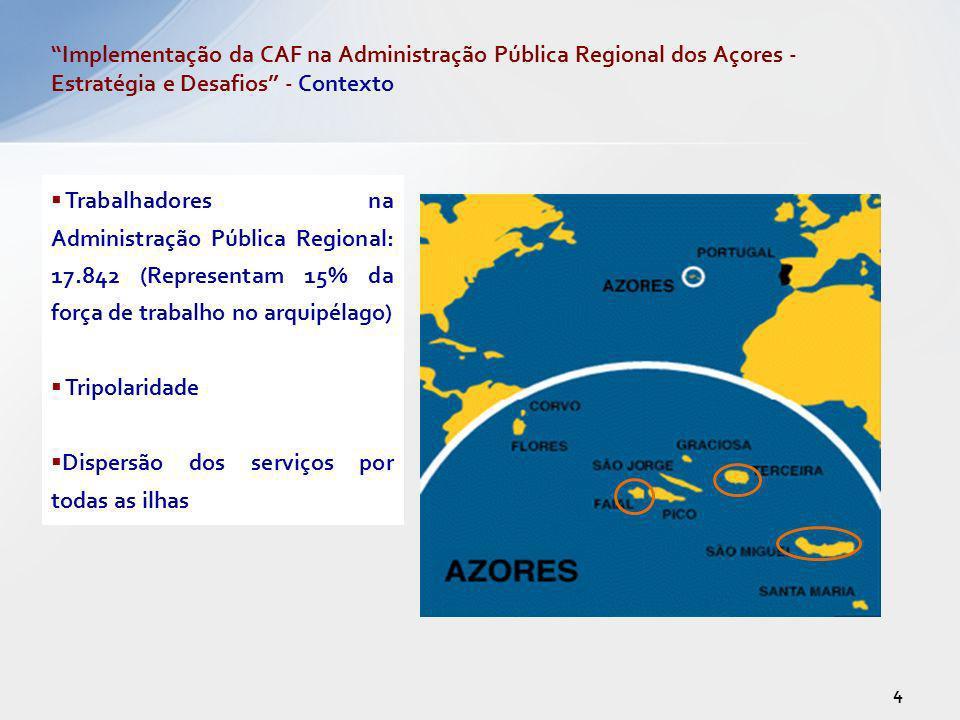 Implementação da CAF na Administração Pública Regional dos Açores - Estratégia e Desafios - Contexto