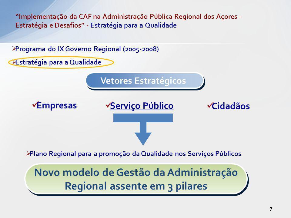 Novo modelo de Gestão da Administração Regional assente em 3 pilares