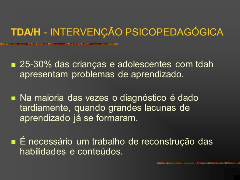 TDA/H - INTERVENÇÃO PSICOPEDAGÓGICA