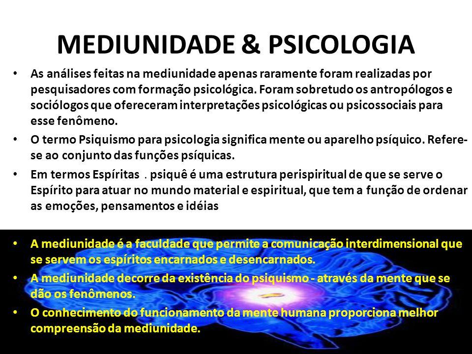 MEDIUNIDADE & PSICOLOGIA