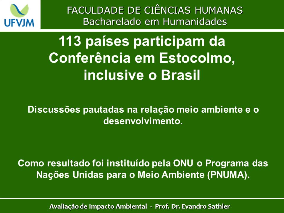 113 países participam da Conferência em Estocolmo, inclusive o Brasil