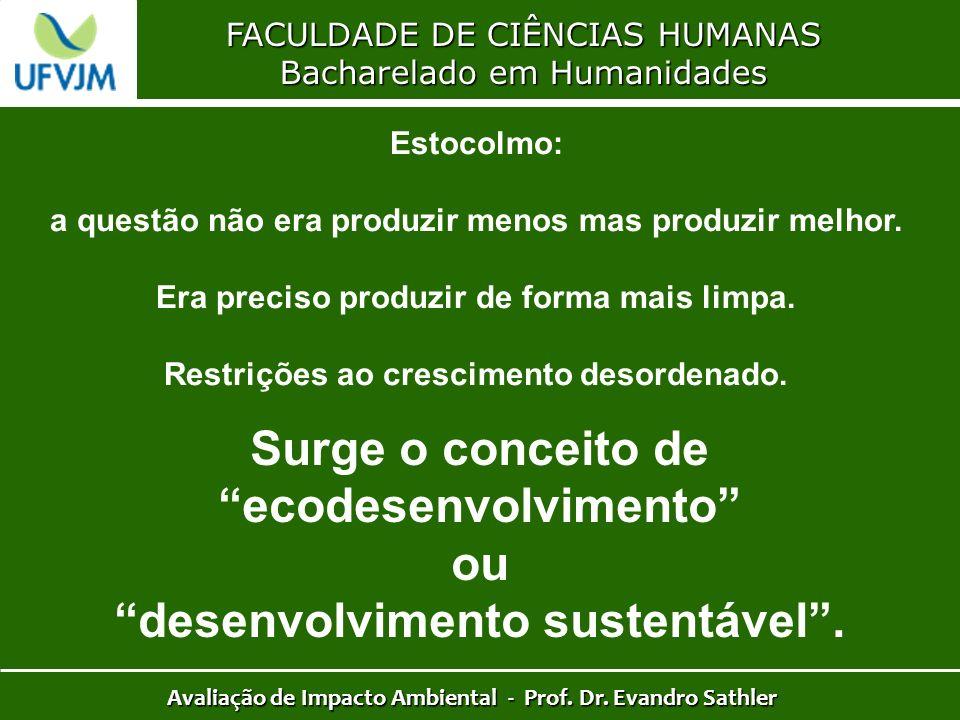 Surge o conceito de ecodesenvolvimento ou