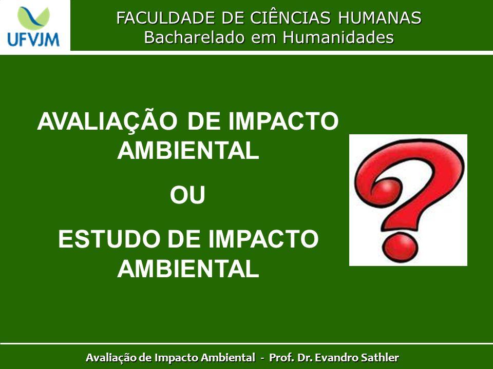 AVALIAÇÃO DE IMPACTO AMBIENTAL OU ESTUDO DE IMPACTO AMBIENTAL