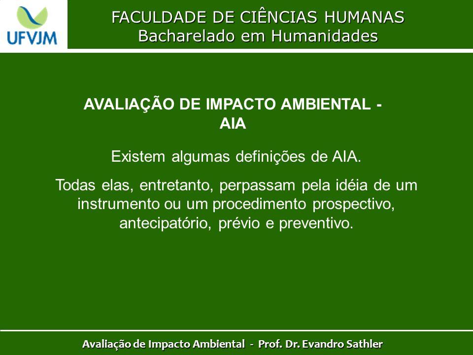 AVALIAÇÃO DE IMPACTO AMBIENTAL - AIA