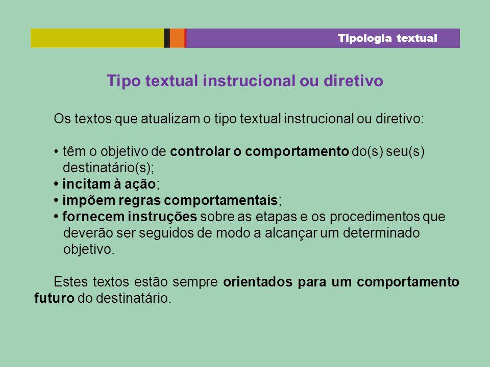 Tipo textual instrucional ou diretivo