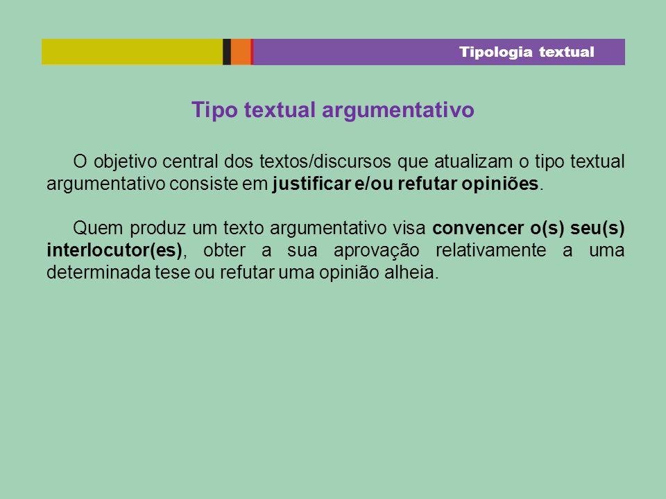 Tipo textual argumentativo