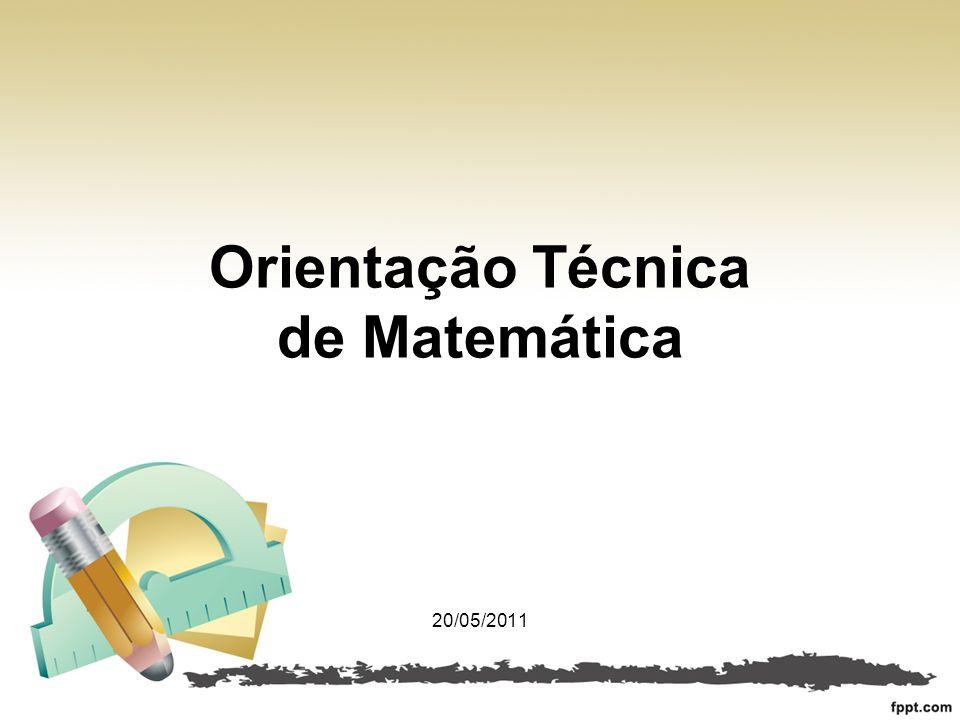 Orientação Técnica de Matemática
