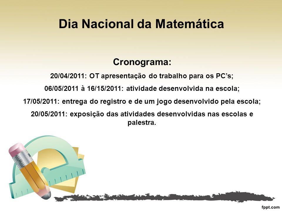 Dia Nacional da Matemática