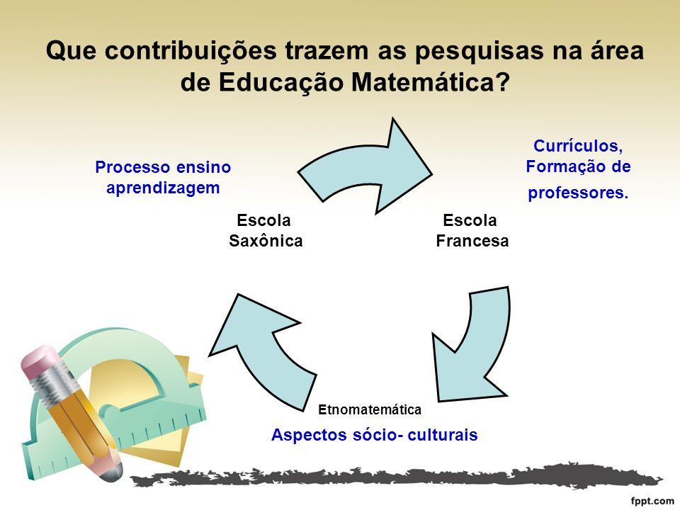 Processo ensino aprendizagem Aspectos sócio- culturais