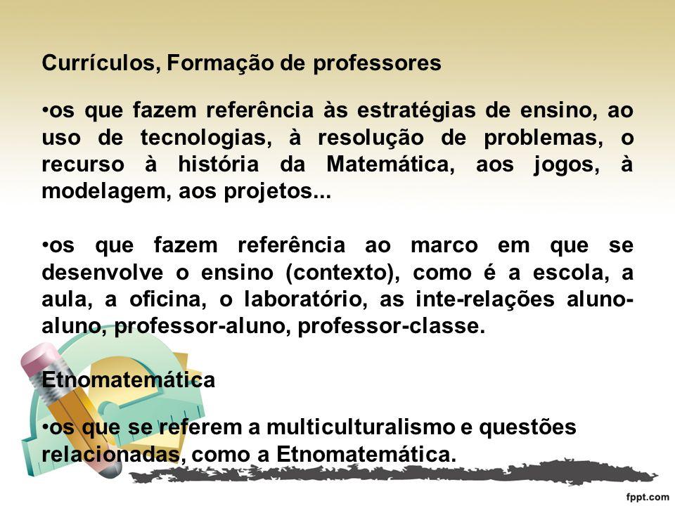 Currículos, Formação de professores