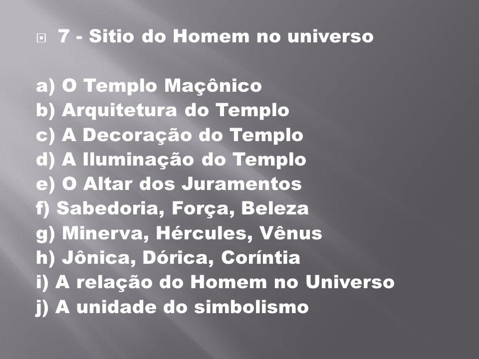 7 - Sitio do Homem no universo