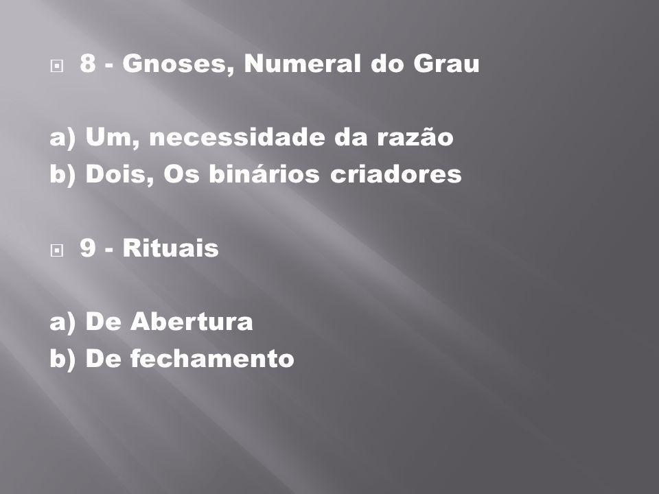 8 - Gnoses, Numeral do Grau
