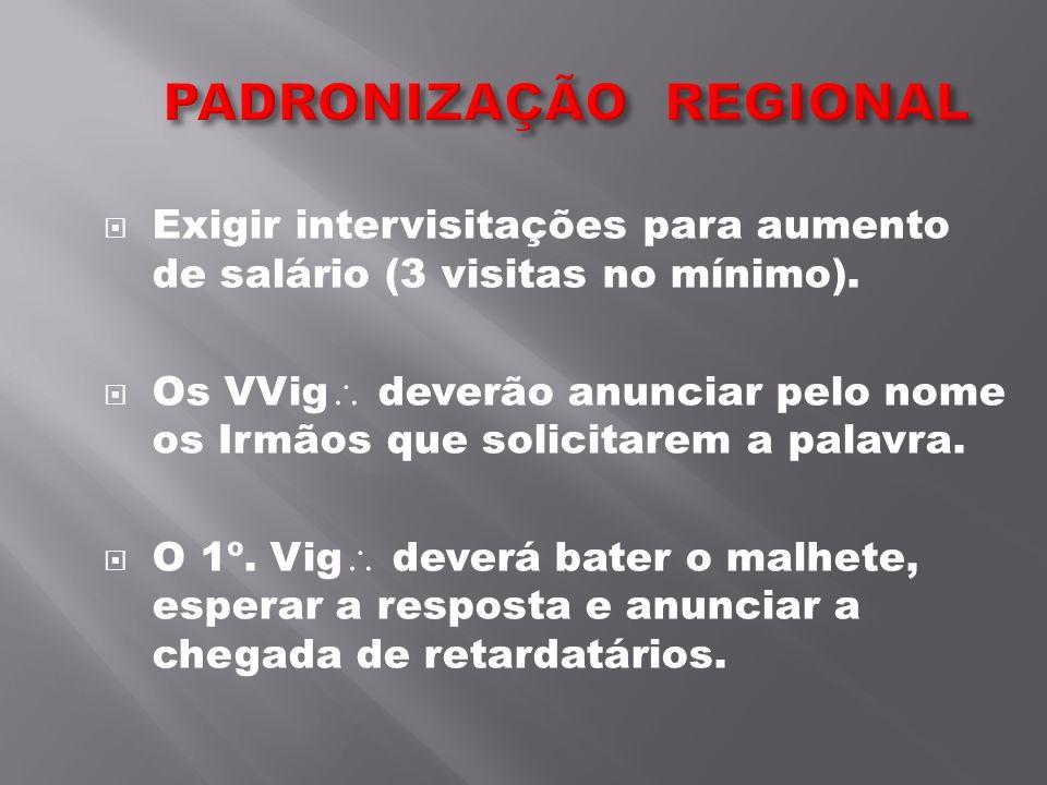 PADRONIZAÇÃO REGIONAL