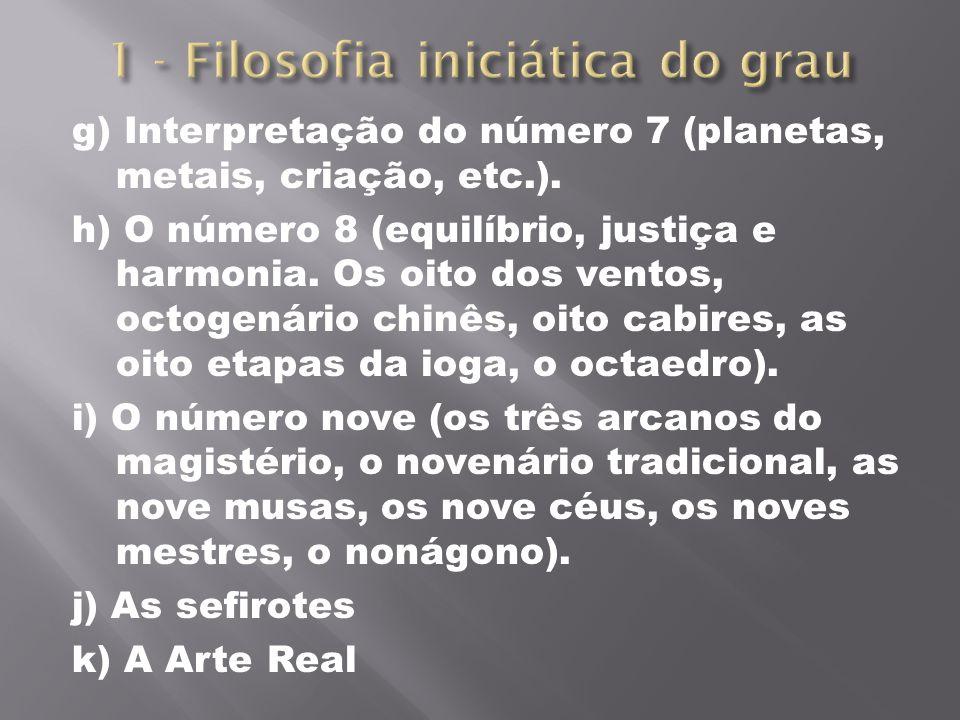 1 - Filosofia iniciática do grau