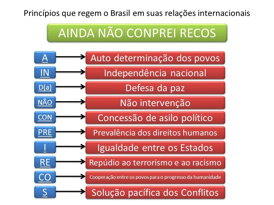 Princípios que regem o Brasil em suas relações internacionais