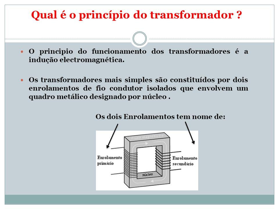 Qual é o princípio do transformador