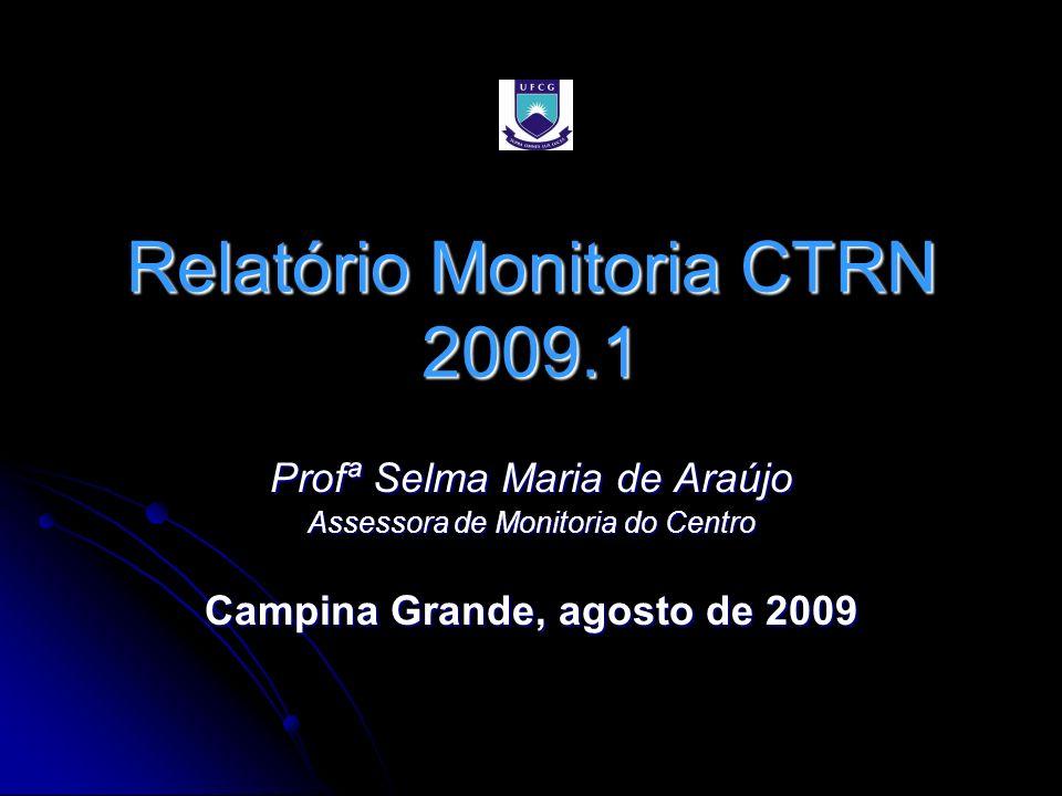 Relatório Monitoria CTRN 2009.1