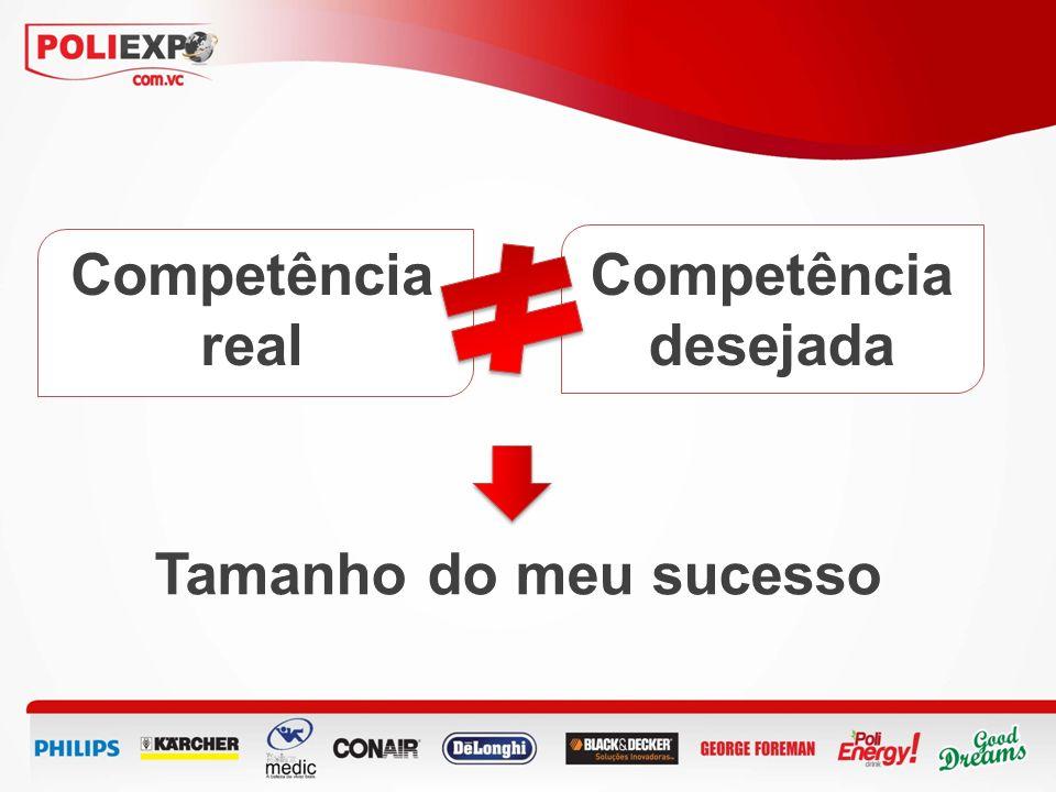 Competência real Competência desejada Tamanho do meu sucesso