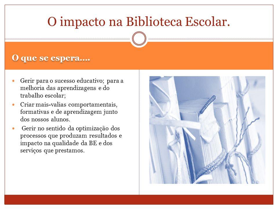O impacto na Biblioteca Escolar.