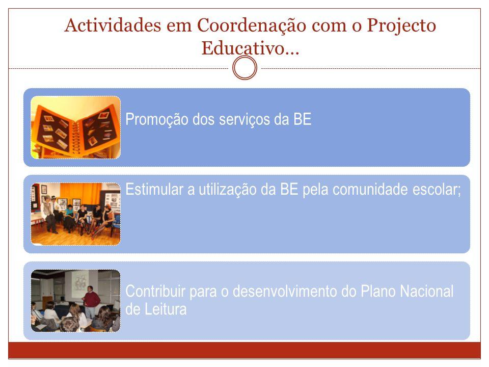 Actividades em Coordenação com o Projecto Educativo…