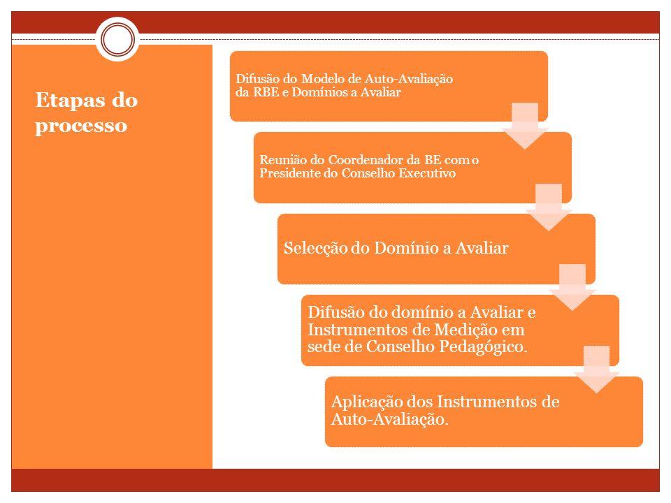 Difusão do Modelo de Auto-Avaliação da RBE e Domínios a Avaliar