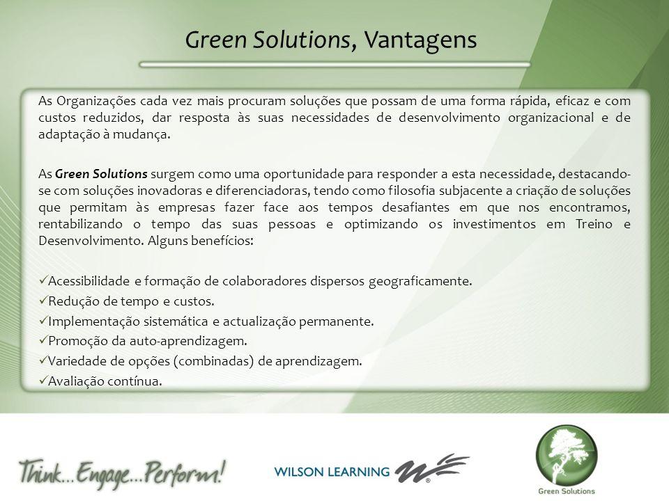 Green Solutions, Vantagens