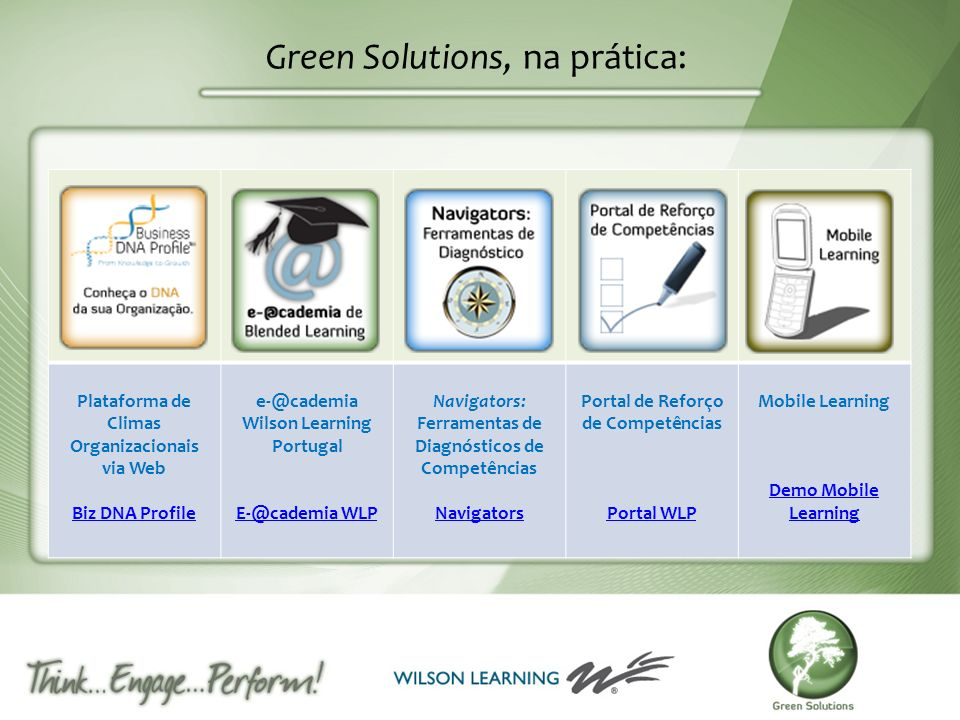 Green Solutions, na prática: