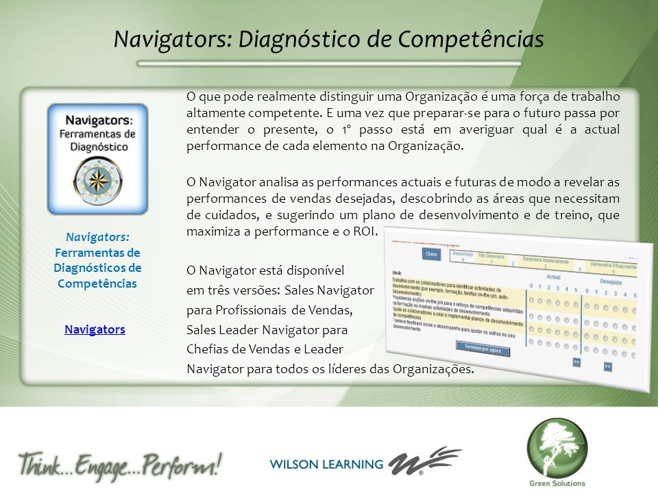Navigators: Diagnóstico de Competências