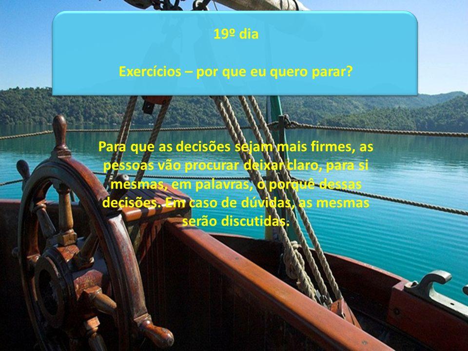 Exercícios – por que eu quero parar