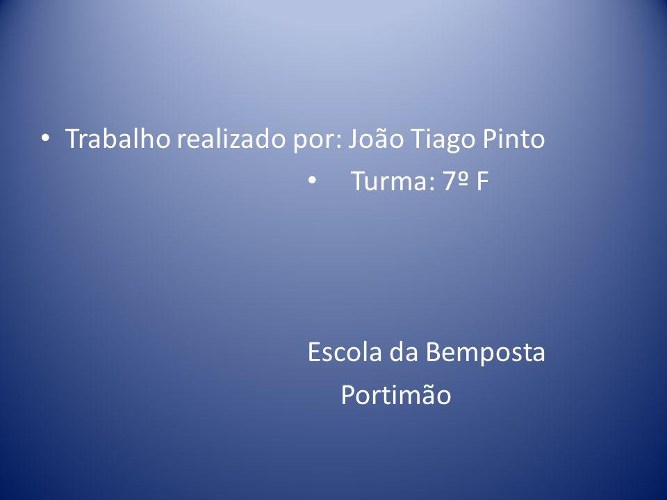 Trabalho realizado por: João Tiago Pinto