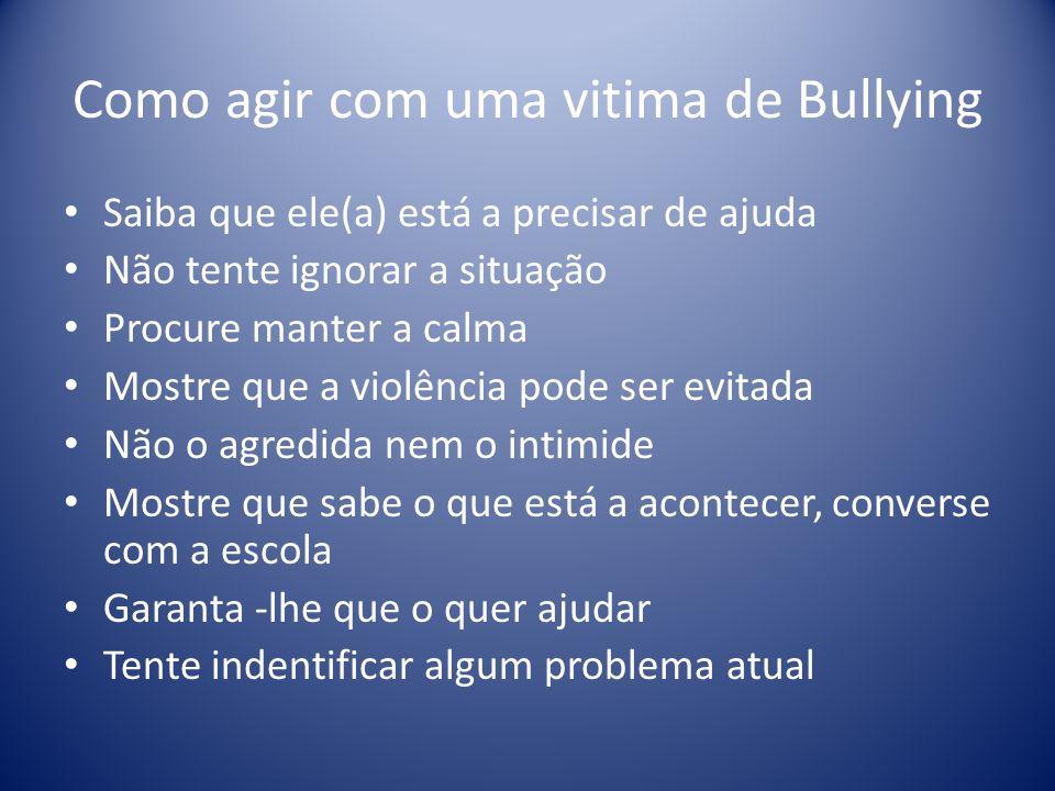 Como agir com uma vitima de Bullying