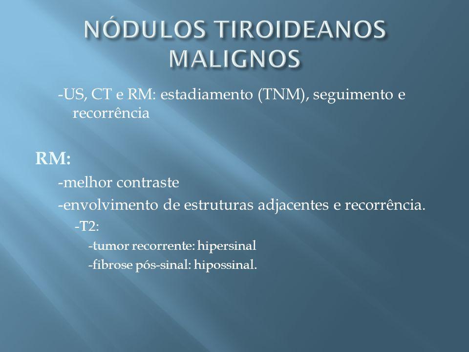 NÓDULOS TIROIDEANOS MALIGNOS