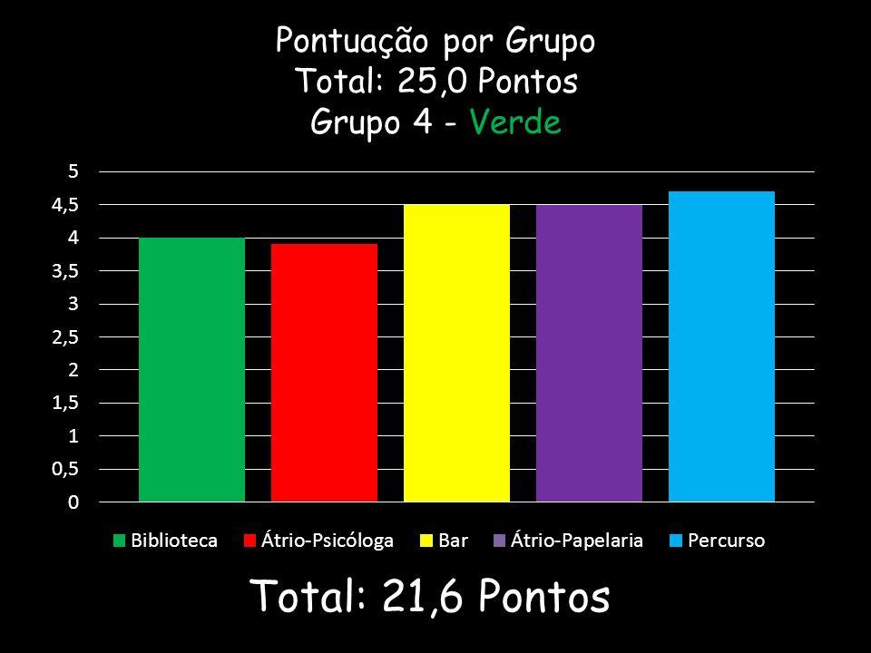 Pontuação por Grupo Total: 25,0 Pontos Grupo 4 - Verde