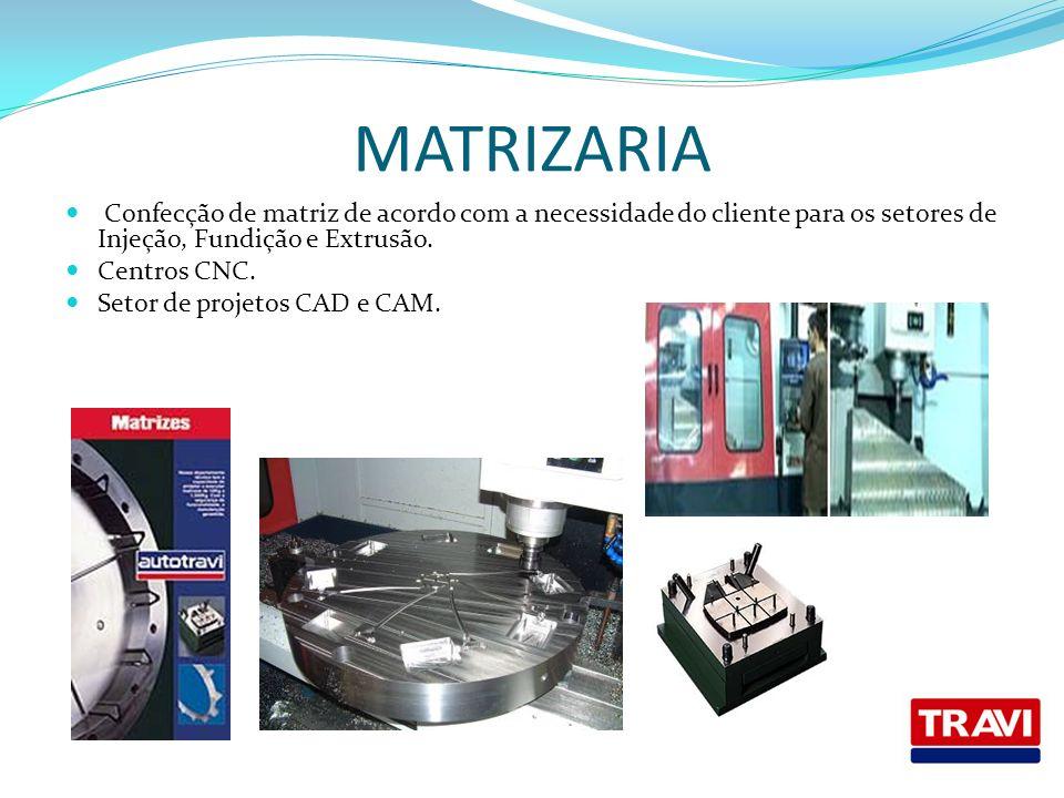 MATRIZARIA Confecção de matriz de acordo com a necessidade do cliente para os setores de Injeção, Fundição e Extrusão.