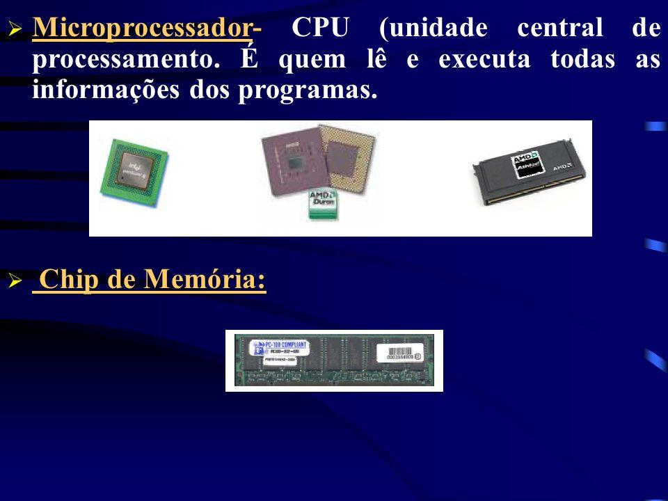 Microprocessador- CPU (unidade central de processamento