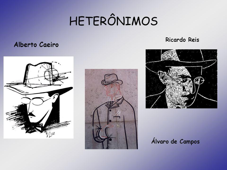 HETERÔNIMOS Ricardo Reis Alberto Caeiro Álvaro de Campos