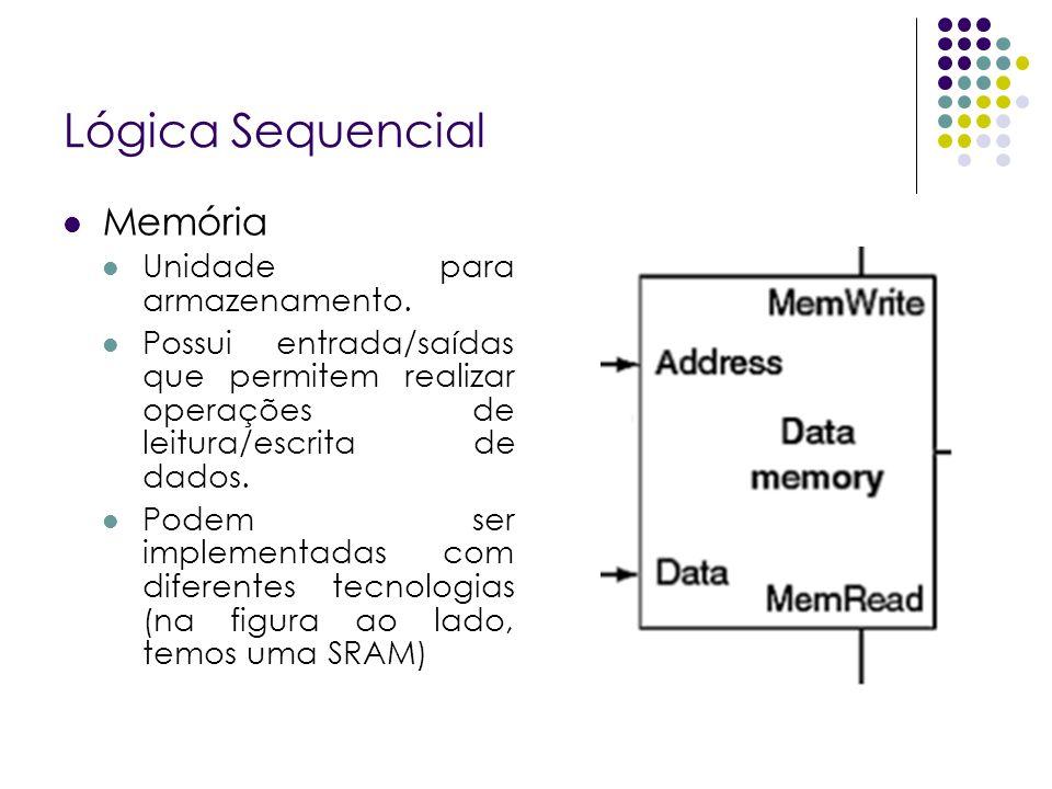 Lógica Sequencial Memória Unidade para armazenamento.
