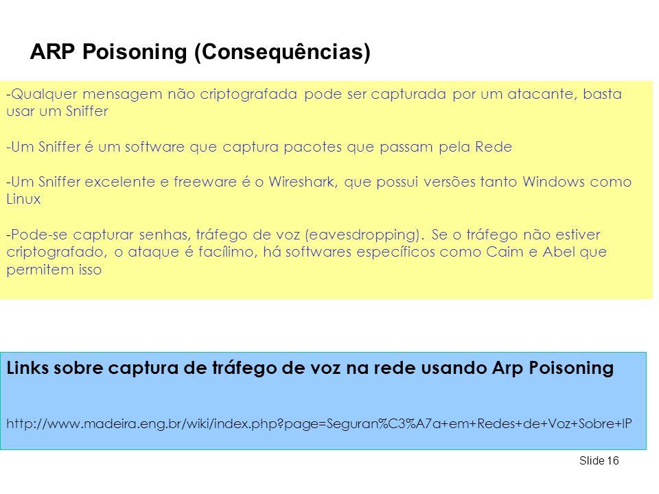 ARP Poisoning (Consequências)