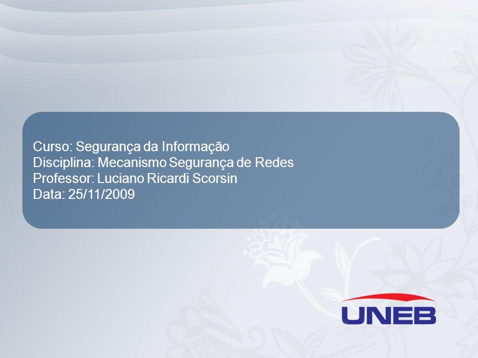 Curso: Segurança da Informação