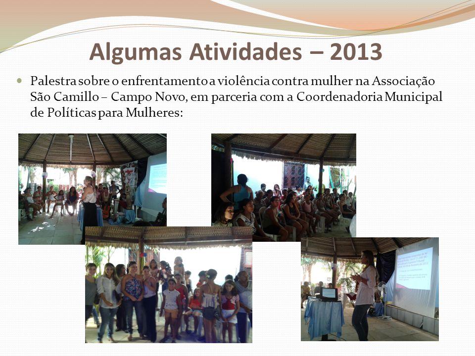 Algumas Atividades – 2013
