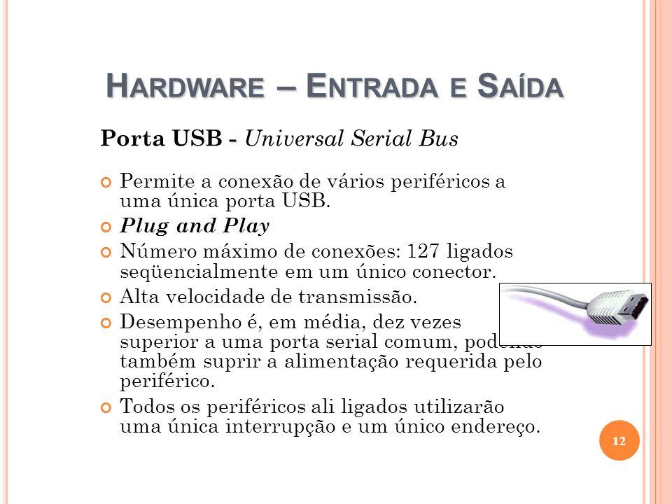 Hardware – Entrada e Saída