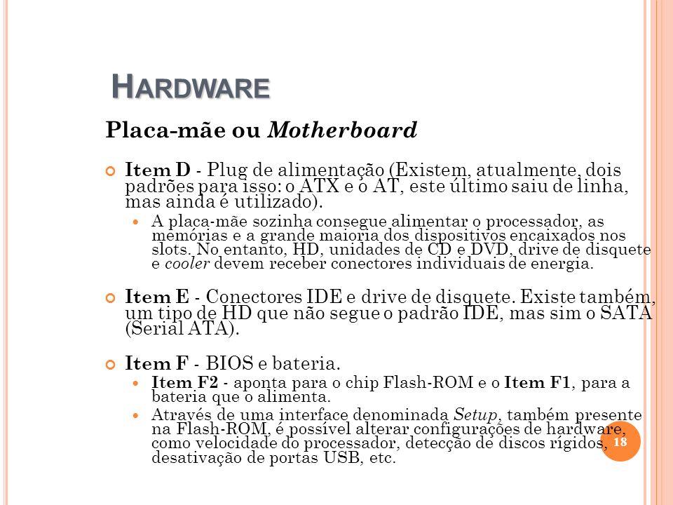 Hardware Placa-mãe ou Motherboard