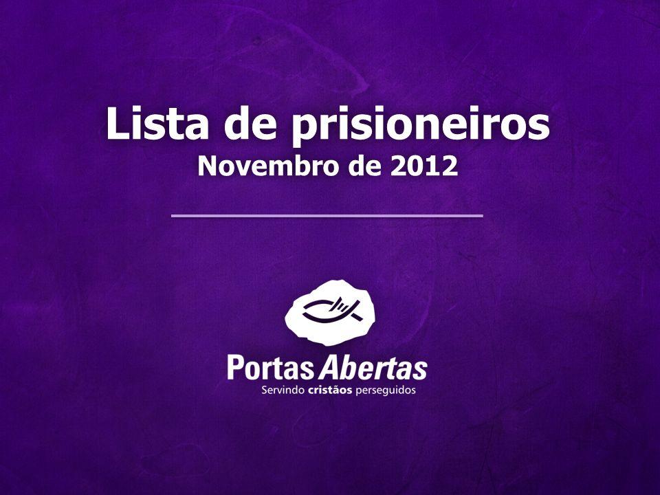 Lista de prisioneiros Novembro de 2012