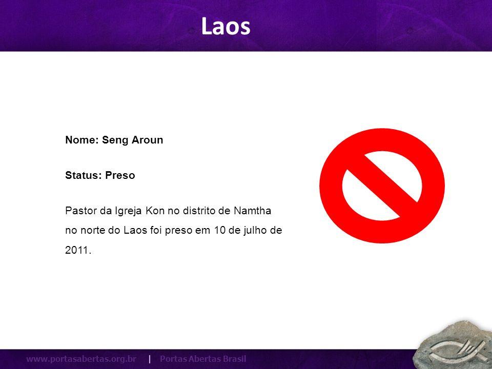 Laos Nome: Seng Aroun Status: Preso