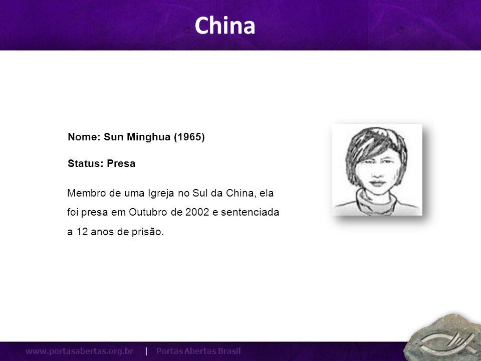 China Nome: Sun Minghua (1965) Status: Presa