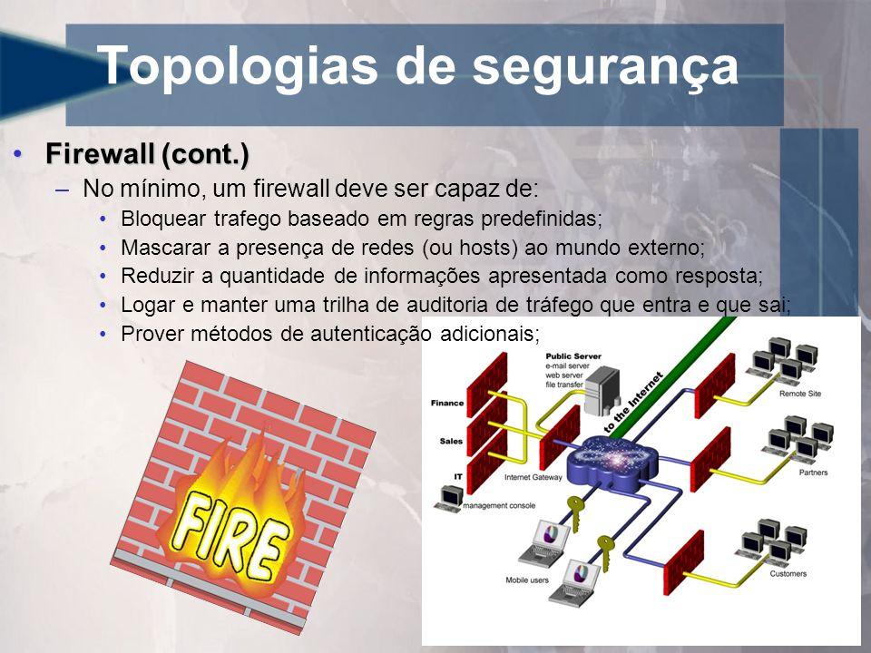 Topologias de segurança