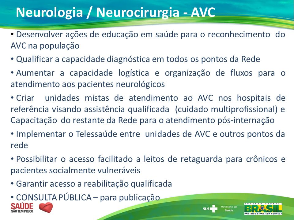 Neurologia / Neurocirurgia - AVC