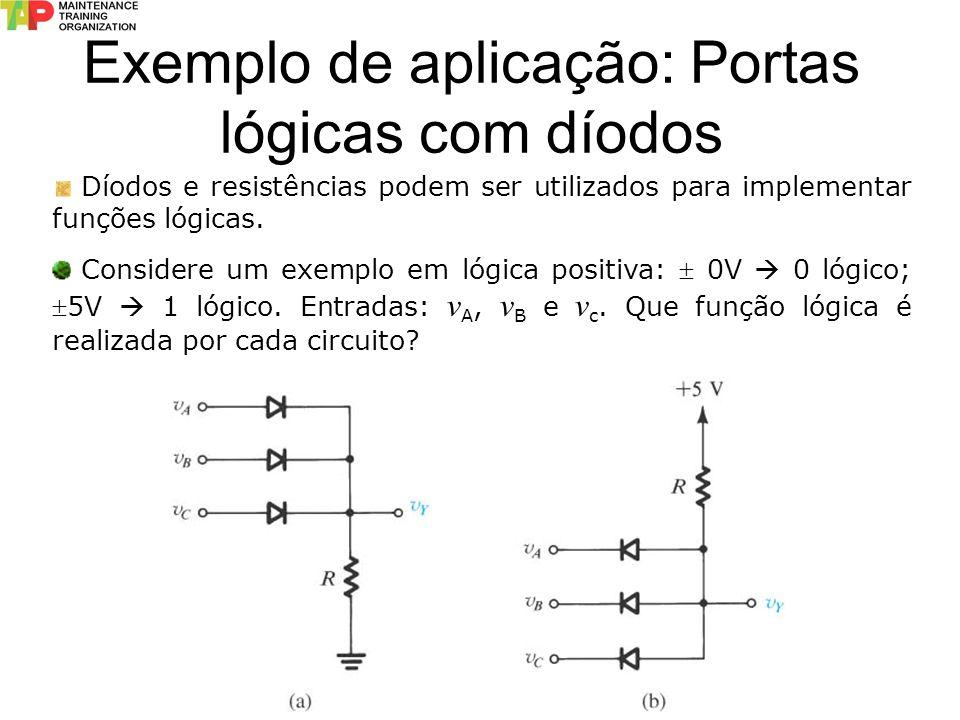 Exemplo de aplicação: Portas lógicas com díodos