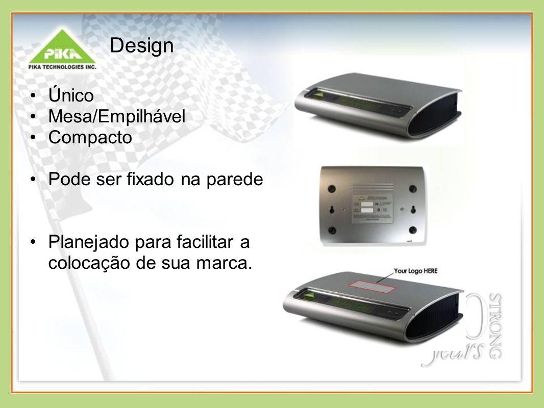 Design Único Mesa/Empilhável Compacto Pode ser fixado na parede