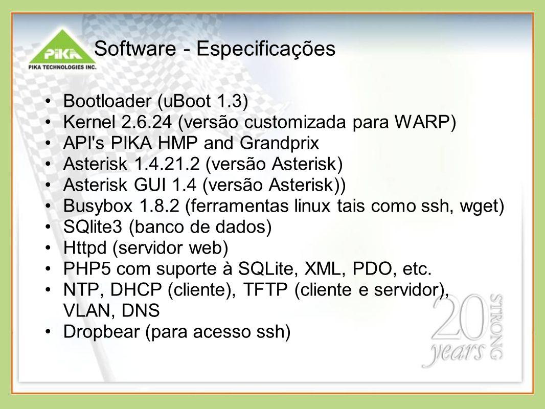 Software - Especificações
